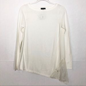 NWT The Limited Ivory Asymmetric tunic sweater
